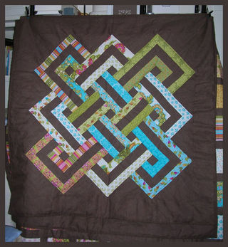 Quilt soiree blue and green