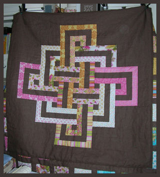 Quilt soiree pink and yellow