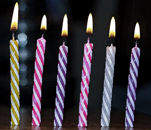 6 candles