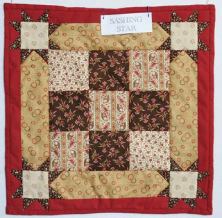 Sashing star quilt