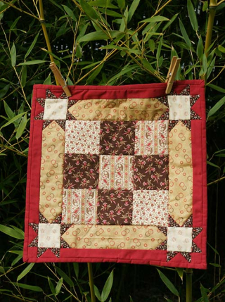 Mini quilt sashing star