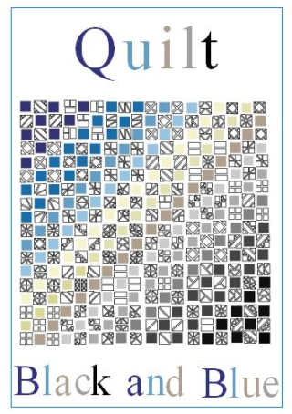 Quilt black and blue 1