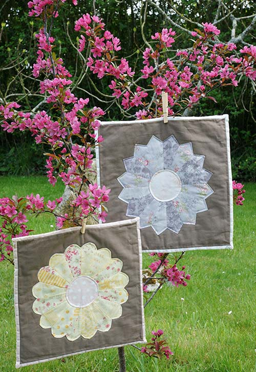 Mini quilts dresden plate
