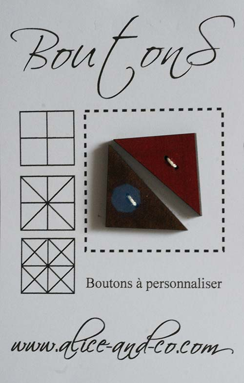 Bouton rouge 6