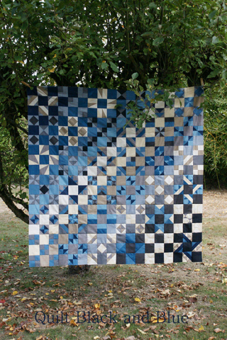 QUILT BLACK AND BLUE
